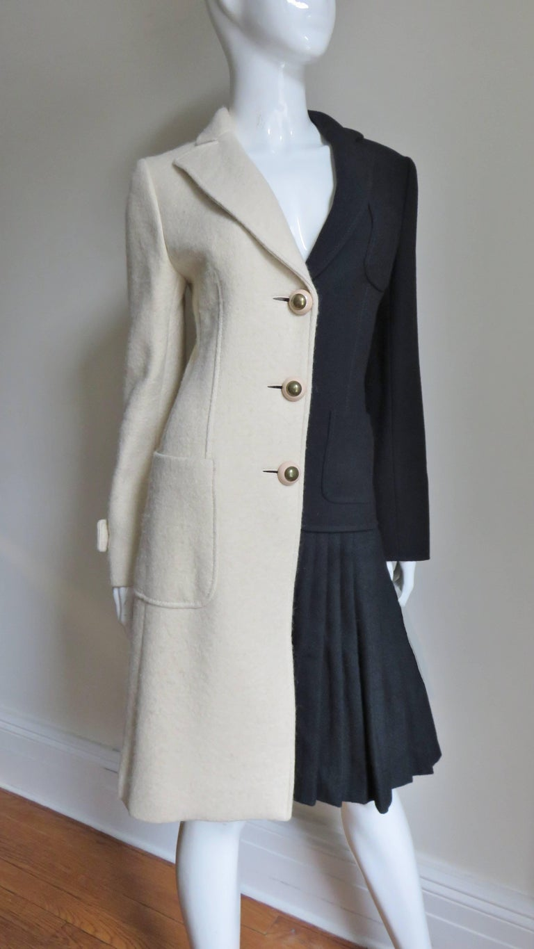 Women's Moschino Color Block Coat For Sale
