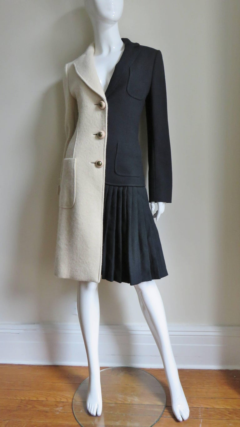 Moschino Color Block Coat For Sale 1