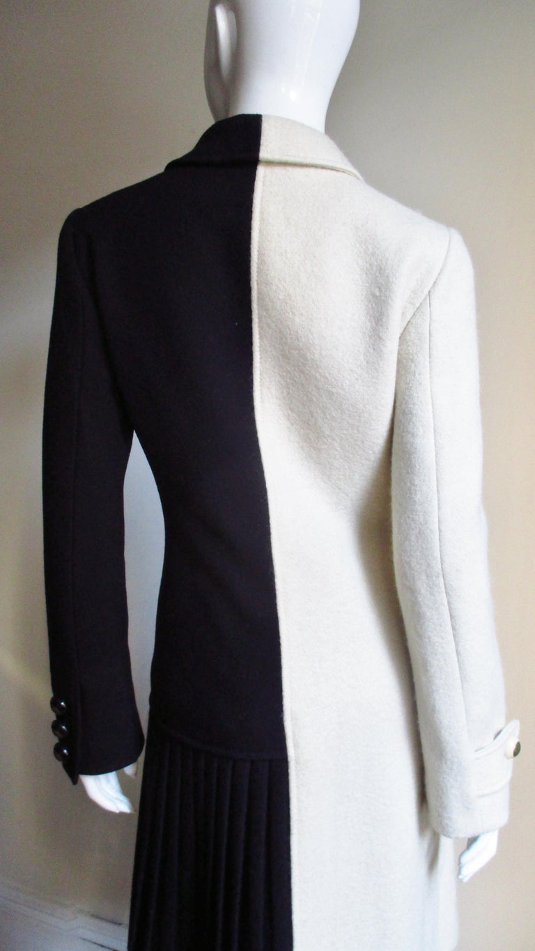 Moschino Color Block Coat For Sale 3