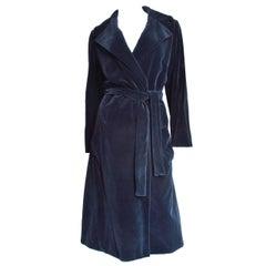 1970s  Halston Velvet Wrap Coat