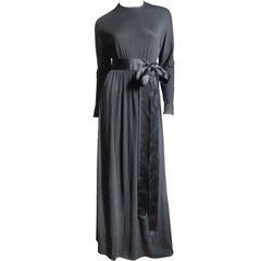 1960s Norman Norell Attributed Maxi Dress