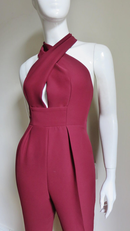 Women's Gucci Silk Halter Jumpsuit For Sale