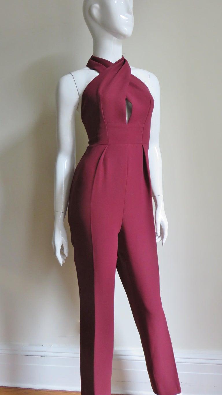 Gucci Silk Halter Jumpsuit For Sale 5