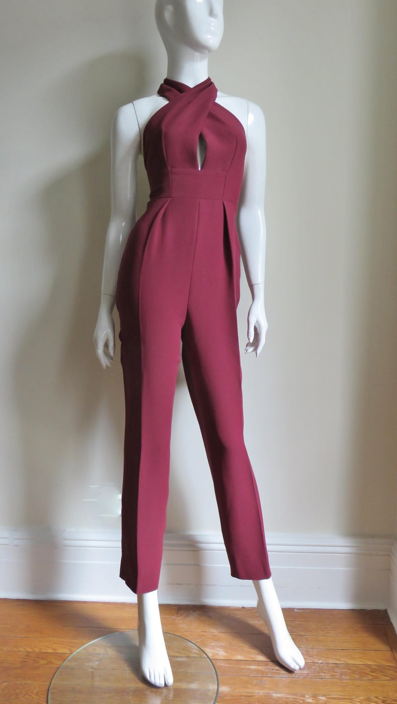 Gucci Silk Halter Jumpsuit For Sale 3