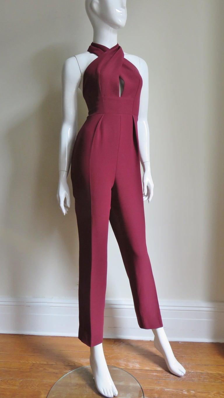 Gucci Silk Halter Jumpsuit For Sale 4