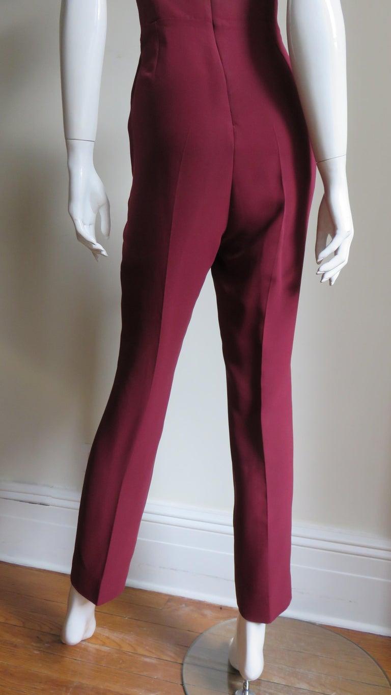 Gucci Silk Halter Jumpsuit For Sale 8
