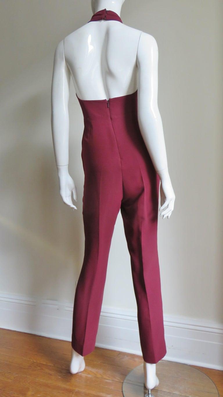 Gucci Silk Halter Jumpsuit For Sale 6