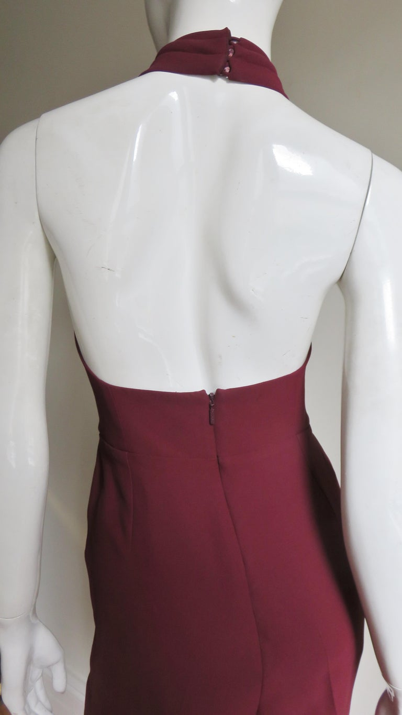 Gucci Silk Halter Jumpsuit For Sale 7
