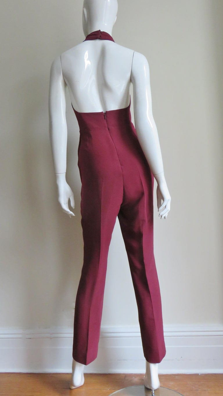 Gucci Silk Halter Jumpsuit For Sale 9