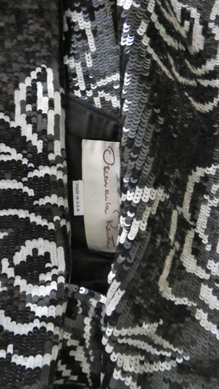 1990s Oscar de la Renta Sequin Gown For Sale 9