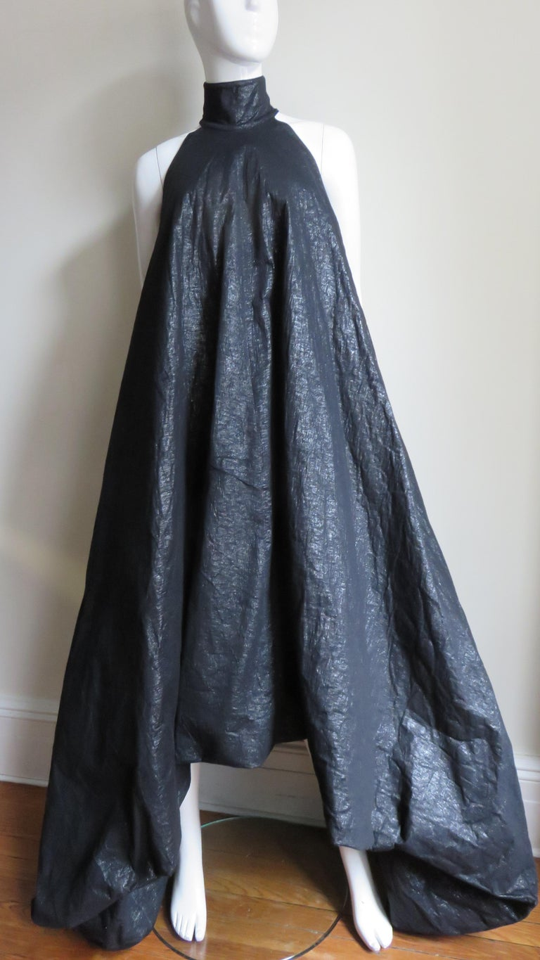Black Gareth Pugh New Puff Triangle Maxi Dress For Sale