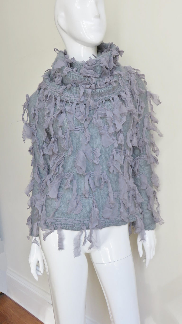 Christian Dior Fringe Sweater For Sale 2