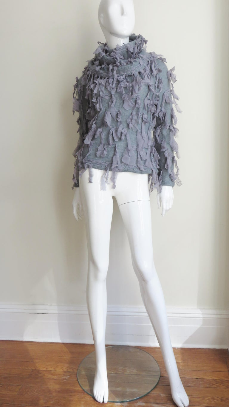 Christian Dior Fringe Sweater For Sale 4