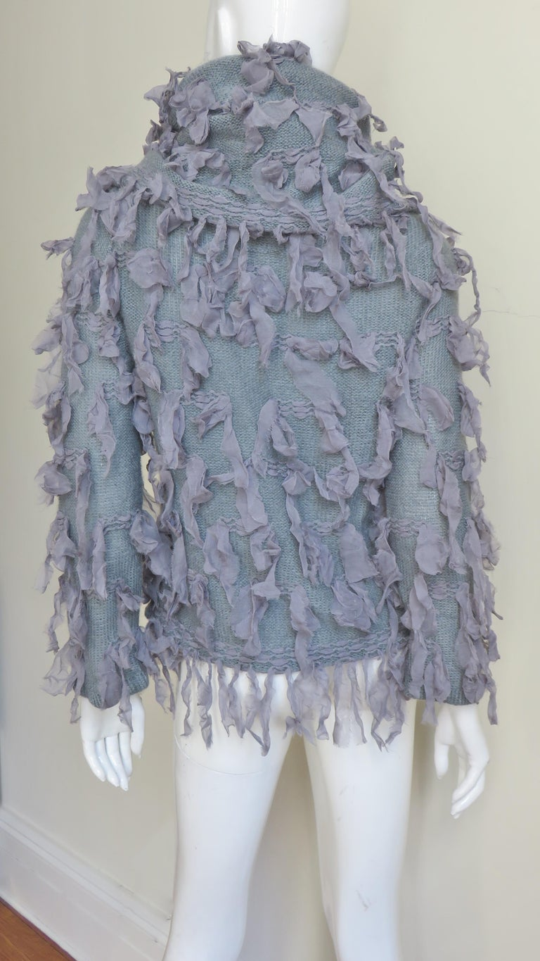 Christian Dior Fringe Sweater For Sale 5
