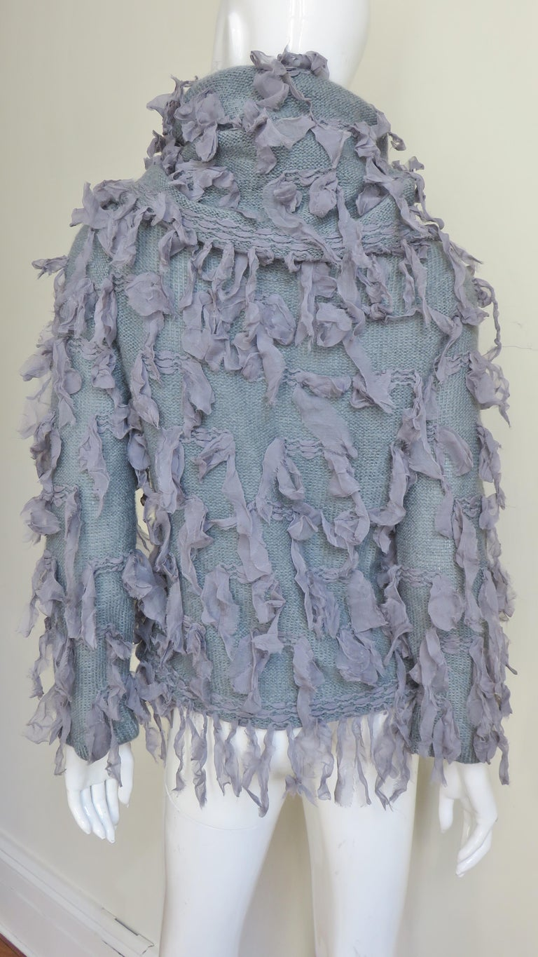 Christian Dior Fringe Sweater For Sale 6