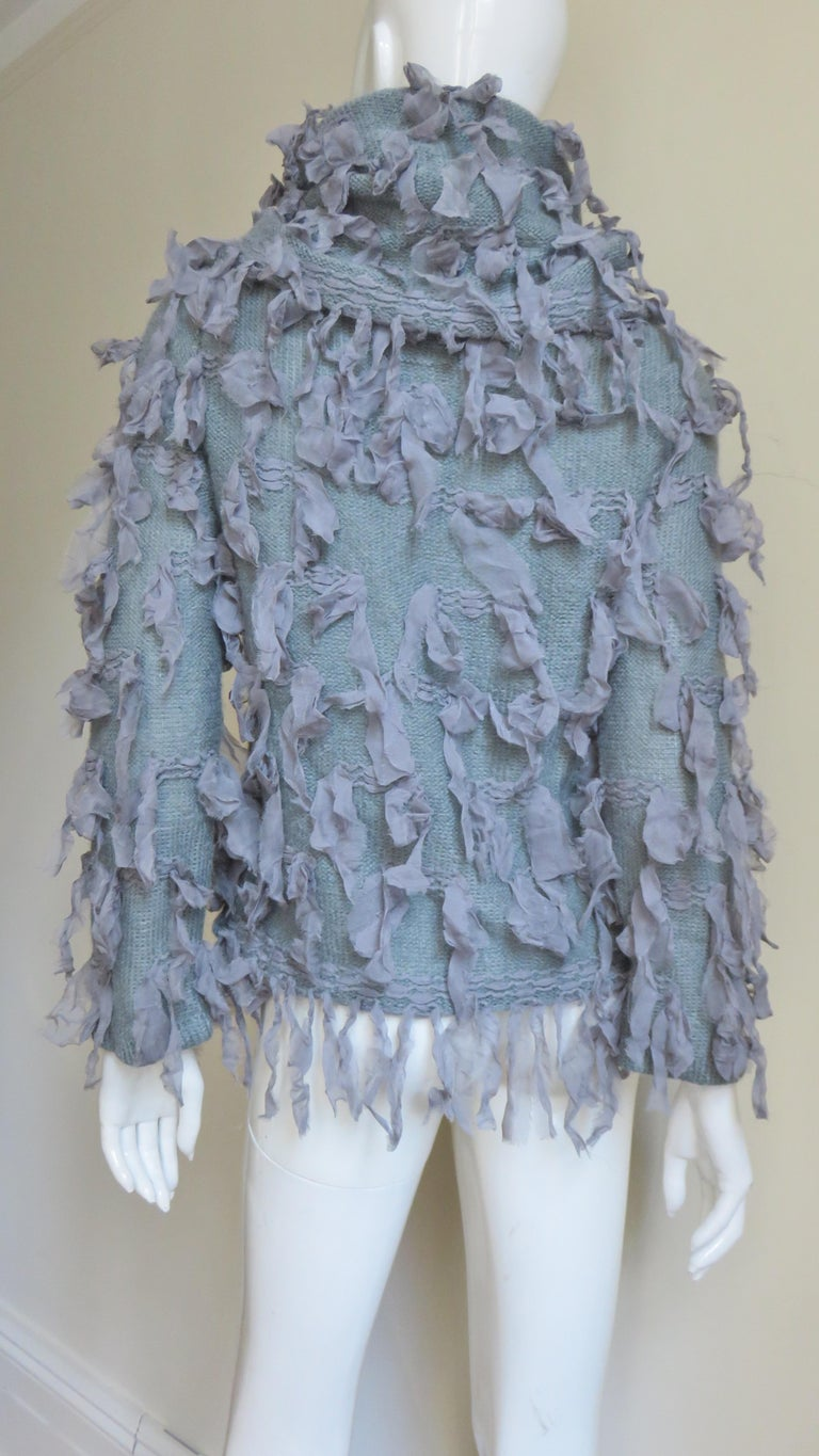 Christian Dior Fringe Sweater For Sale 8