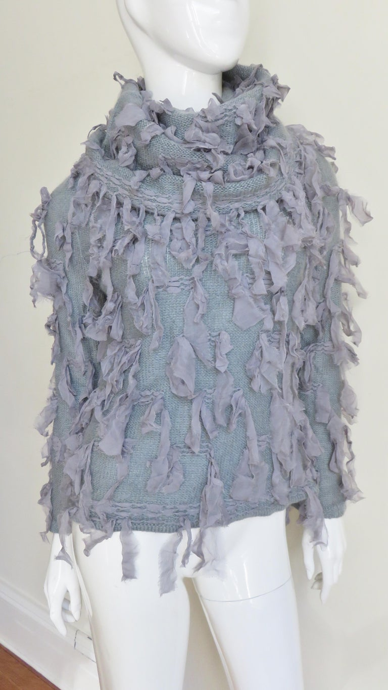 Women's Christian Dior Fringe Sweater For Sale