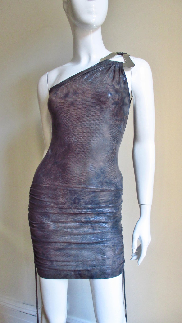 Gray 1990s Gianni Versace Dress with Hardware For Sale