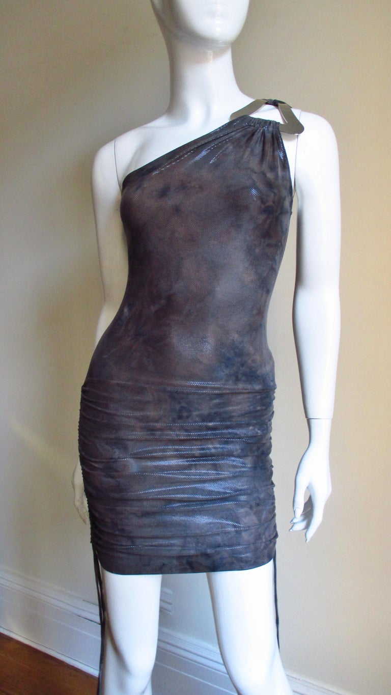 1990s Gianni Versace Dress with Hardware For Sale 2