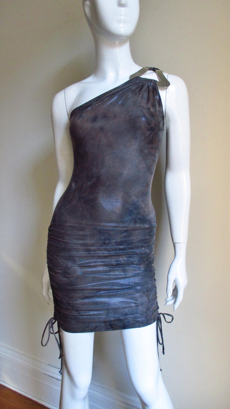 1990s Gianni Versace Dress with Hardware For Sale 3