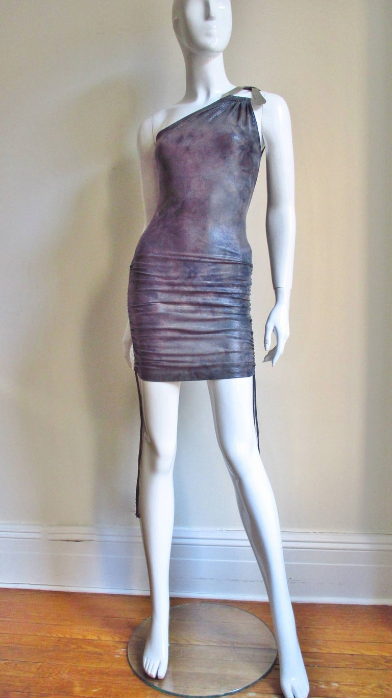 1990s Gianni Versace Dress with Hardware For Sale 4
