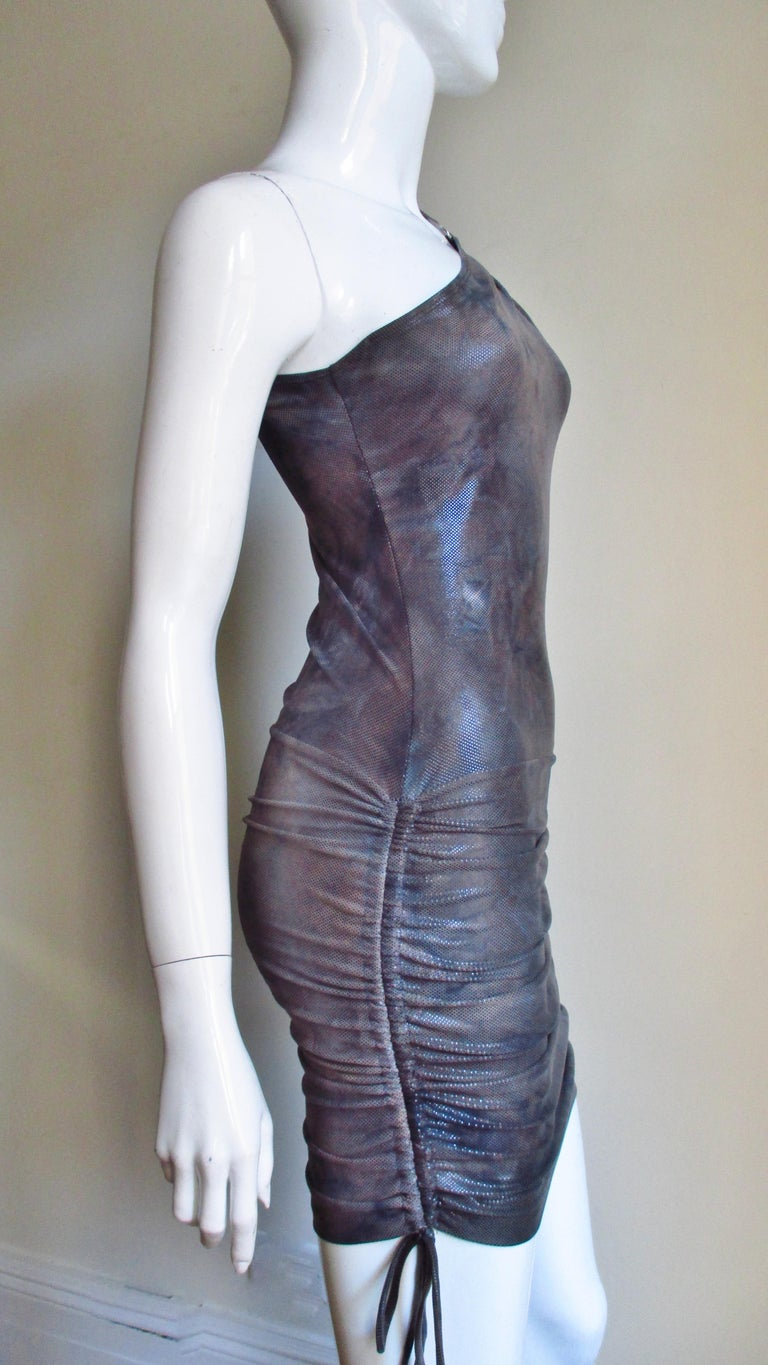 1990s Gianni Versace Dress with Hardware For Sale 5