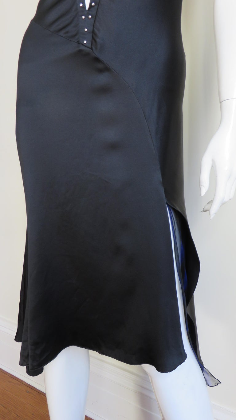 Women's   Versace Backless Silk Dress with Studs For Sale