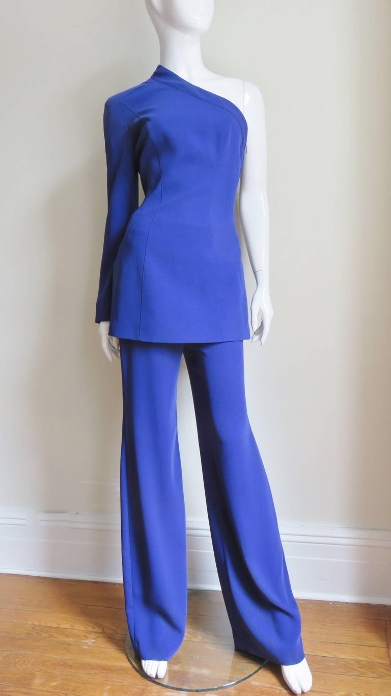 Thierry Mugler New Pants and Jacket with a Removable Sleeve For Sale 4