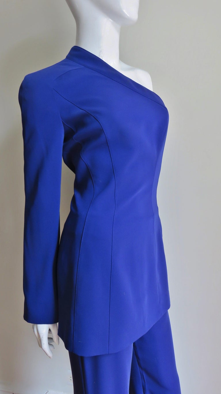 Thierry Mugler New Pants and Jacket with a Removable Sleeve For Sale 6