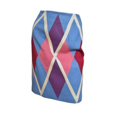 1980s Christian Francis Roth Pieced Color Block Skirt