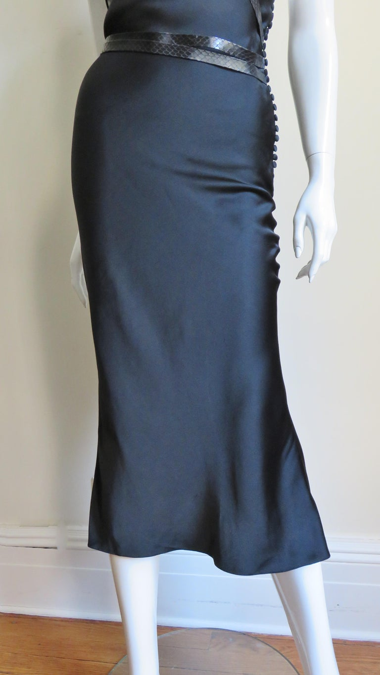 Christian Dior Silk Dress with Harness For Sale 3