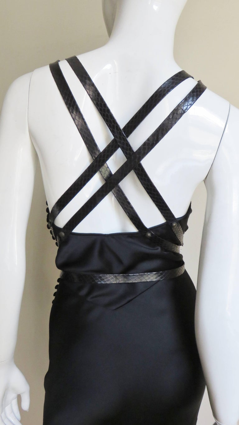 Christian Dior Silk Dress with Harness For Sale 9