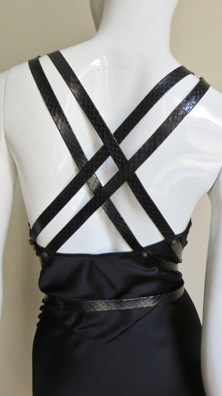 Christian Dior Silk Dress with Harness For Sale 10