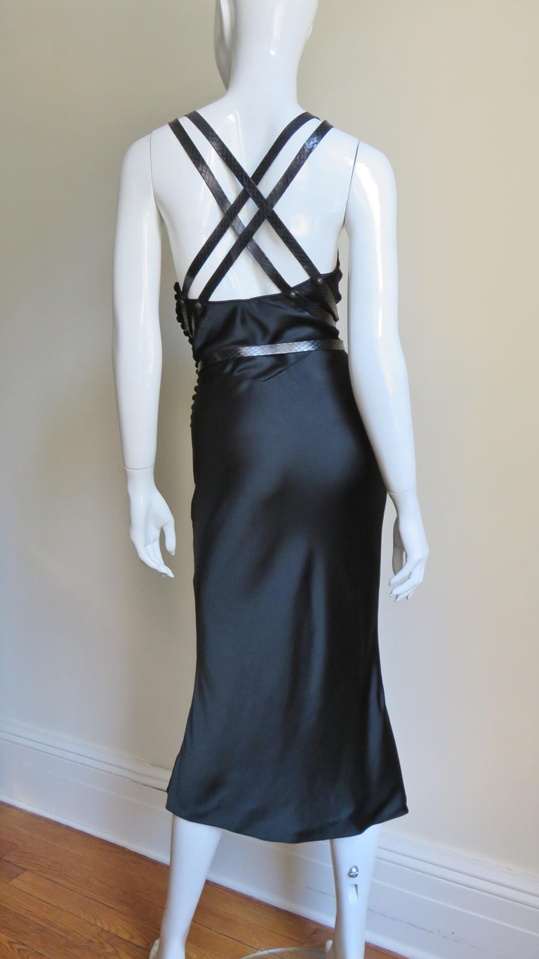 Christian Dior Silk Dress with Harness For Sale 12