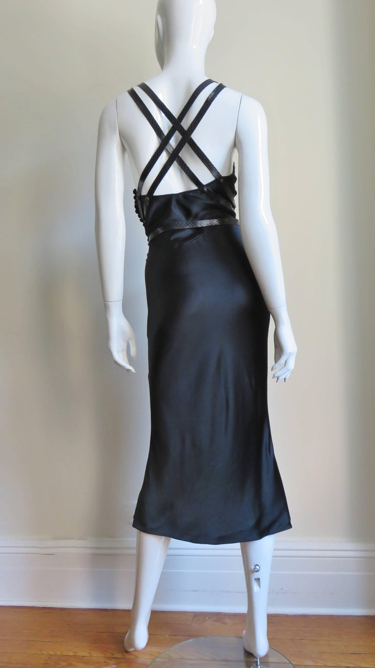 Christian Dior Silk Dress with Harness For Sale 13