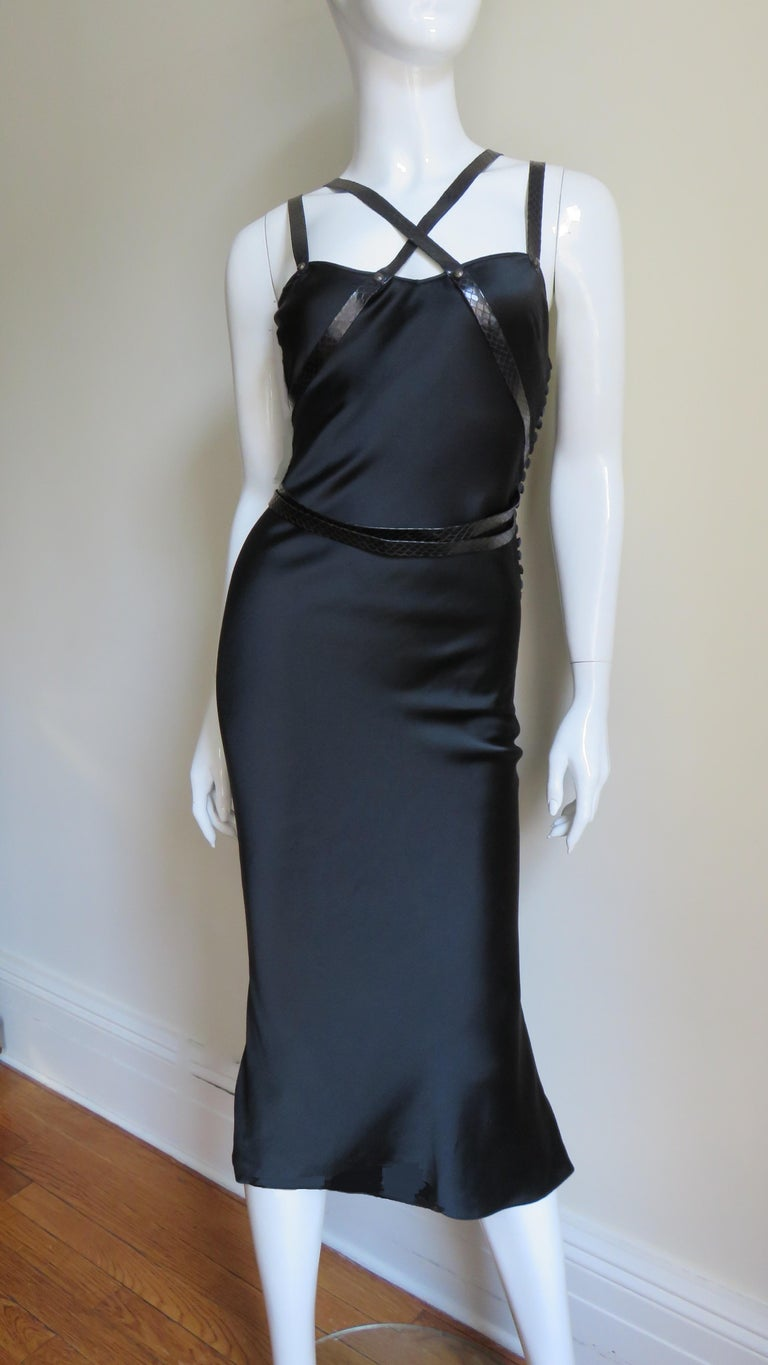 Christian Dior Silk Dress with Harness For Sale 5
