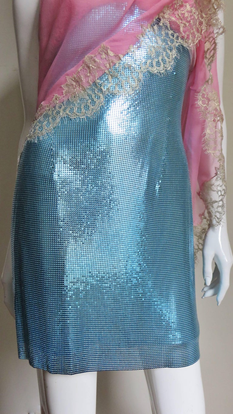 1990s Gianni Versace Metal Mesh Chain Mail Dress For Sale 2