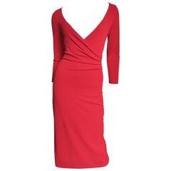 Celine Plunge Wrap Bodycon Dress