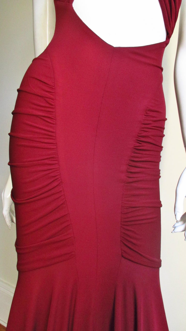 2004 Herve Leger For Guy Laroche Bodycon Cutout Gown For