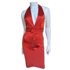 Jean Paul Gaultier Plunge Halter Dress