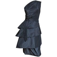 1950s New Vintage Sculptural Werle Silk Dress