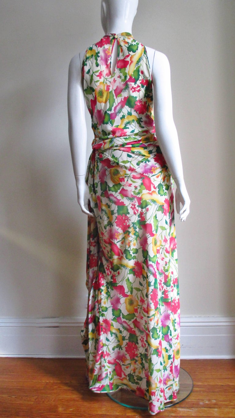 Valentino Boutique Silk Flower Gown For Sale 5