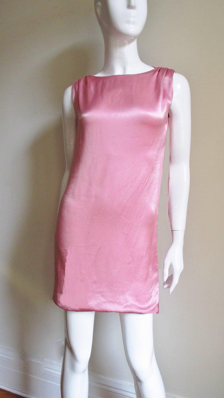 Purple Versace Back Cut out Silk Dress For Sale