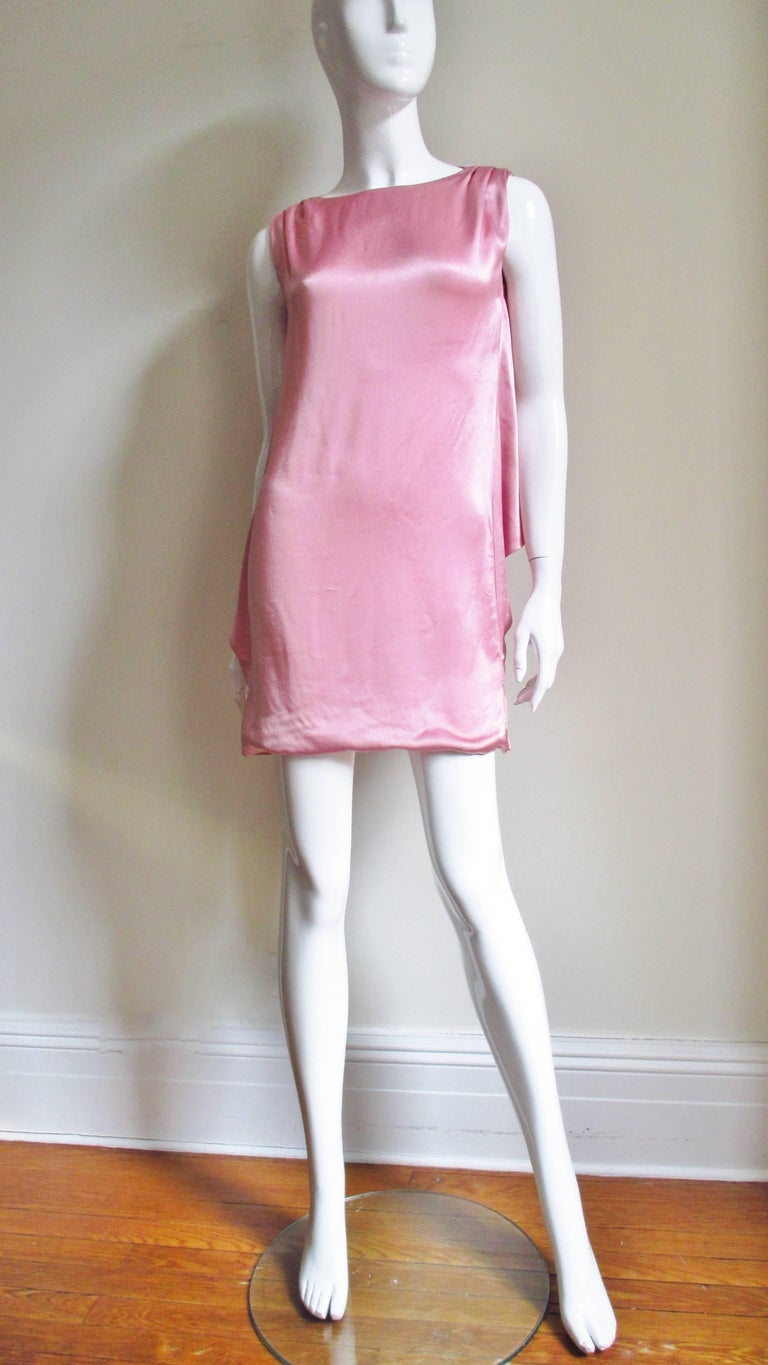 Versace Back Cut out Silk Dress For Sale 1