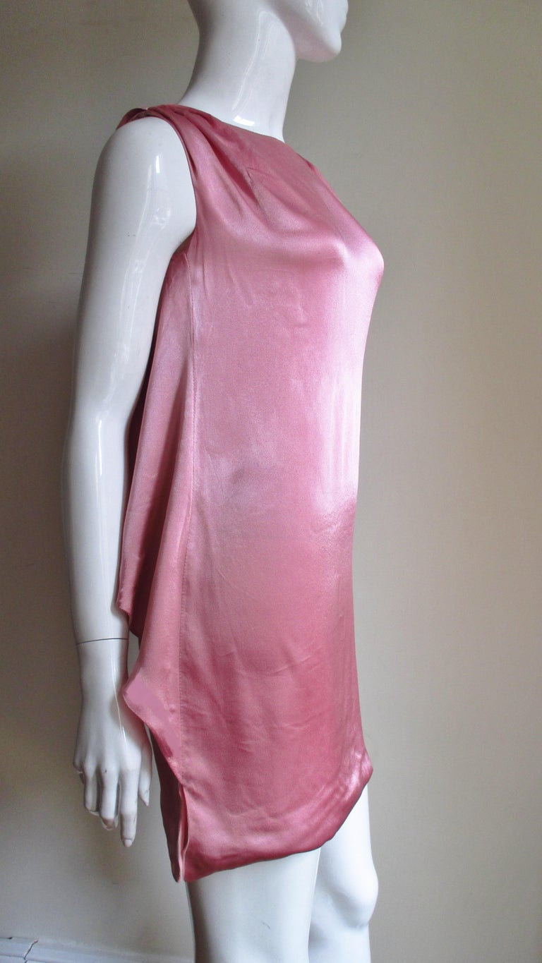 Versace Back Cut out Silk Dress For Sale 2