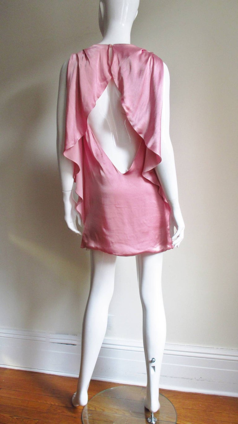 Versace Back Cut out Silk Dress For Sale 7