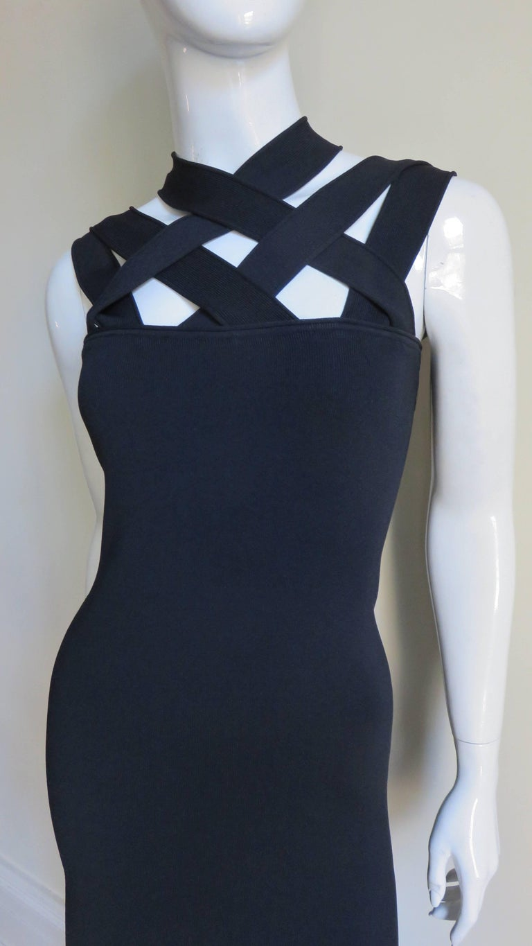 Black Givenchy Bodycon Bandage Dress For Sale