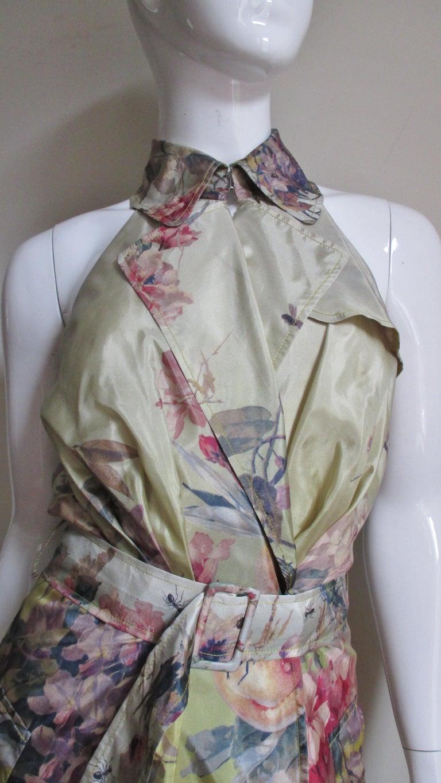 Women's Jean Paul Gaultier Silk Flower Wrap Dress For Sale