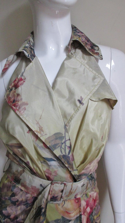 Jean Paul Gaultier Silk Flower Wrap Dress For Sale 1