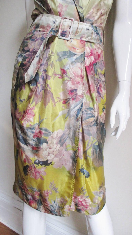 Jean Paul Gaultier Silk Flower Wrap Dress For Sale 2